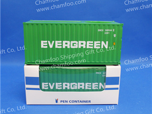 135 evergreen pen containernamecard holderchamfoo shipping gift prototype 20gp dry container scale 135 speciality one side of the top could place 40 50pcs business cardsthe other side is colourmoves