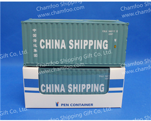 135 china shipping pen containernamecard holderchamfoo shipping prototype 20gp dry container scale 135 speciality one side of the top could place 40 50pcs business cardsthe other side is colourmoves