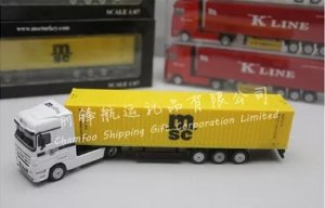 1:87 MSC Diecast Alloy Truck Model|Container Truck Model