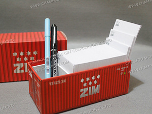ZIM LINE Container Memo|Paper Cube|Container Cube
