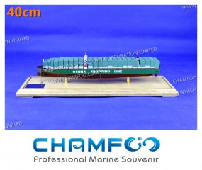 40cm China Shipping Diecast Alloy Container Ship Model
