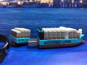 M*ER*K Container Ship USB|Ship Shape Flash Memory
