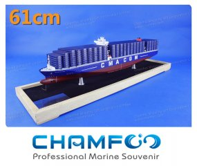 61cm CMA CGM JULES VERNE Diecast Alloy Container Ship Model