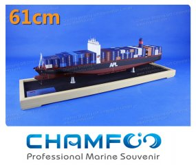 61cm APL Mixed Colour Diecast Alloy Container Ship Model