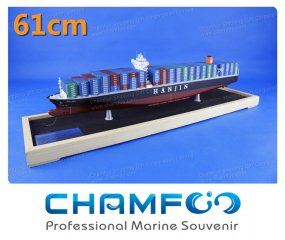 61cm HANJIN Mixed Colour Diecast Alloy Container Ship Model