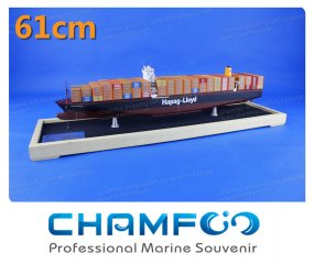 61cm HAPAG LLOYD Mixed Colour Diecast Alloy Container Ship Mo