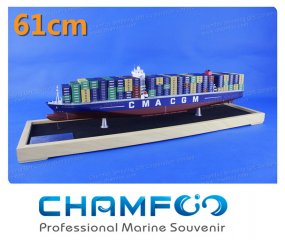 61cm CMA CGM Mixed Coloue Diecast Alloy Container Ship Model
