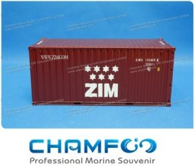 1:30 ZIM Diecast Alloy Container Model|Miniature Container