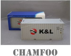 1:30 K&L Diecast Alloy Container Model|Miniature Container