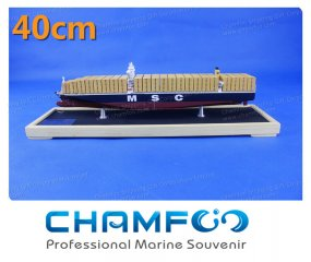 40cm MSC CRISTINA Diecast Alloy Container Ship Model