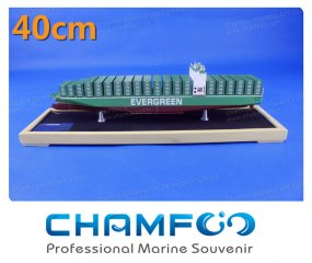 40cm EVERGREEN EVER LIVING Diecast Alloy Container Ship Model
