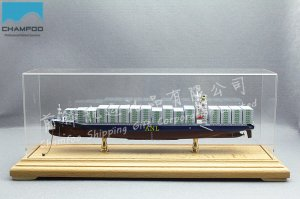 30cm ANL WYONG Diecast Alloy Container Ship Model